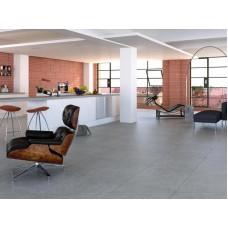 Плитка под бетон в оформлении помещений
