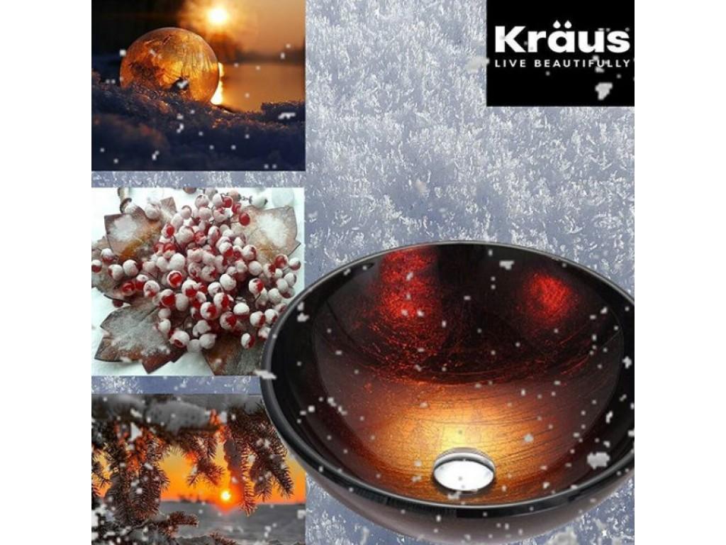 Стеклянные дизайнерские умывальники Kraus, США