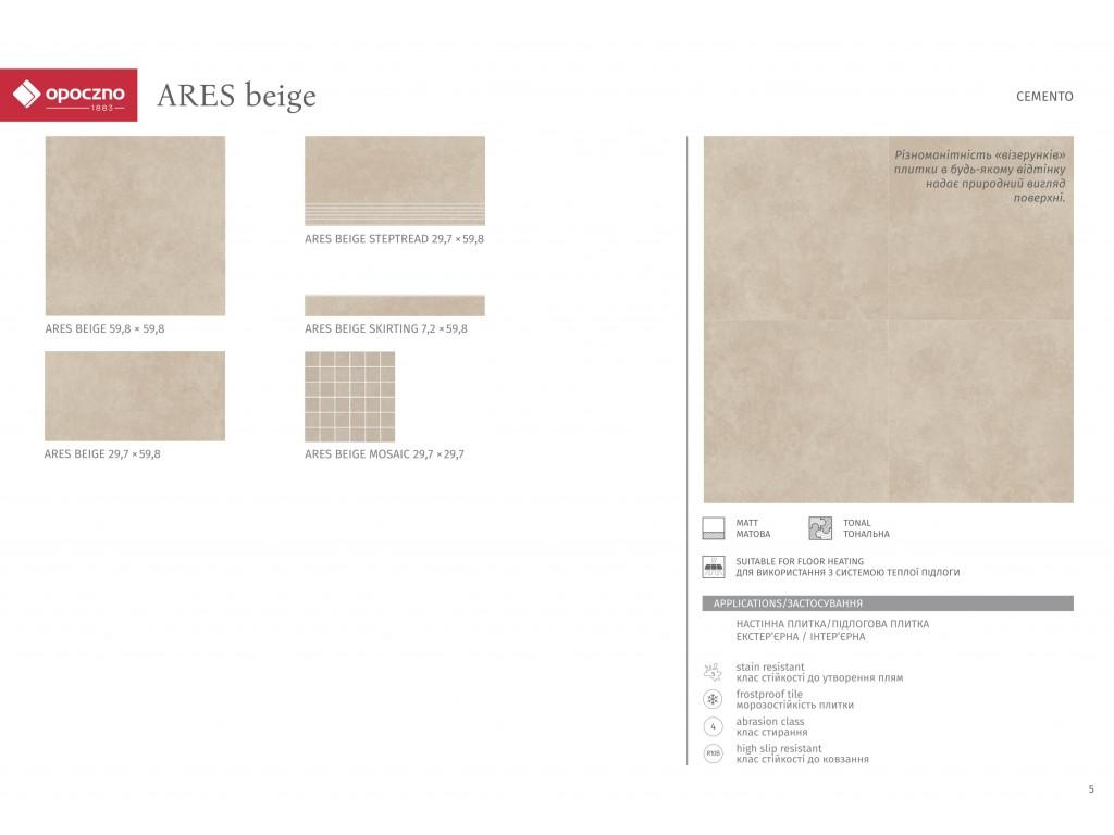 Коллекция плитки OPOCZNO Ares - цементный рисунок в современной тенденции дизайна