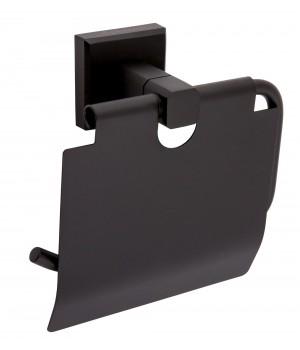 Держатель для туалетной бумаги 9926 закрытый Leonardo ОР0002379 Aqua Rodos черный матовый