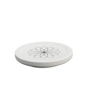 Мыльница настольная, цвет белый с декором Pomdor Equilibrium 776050002
