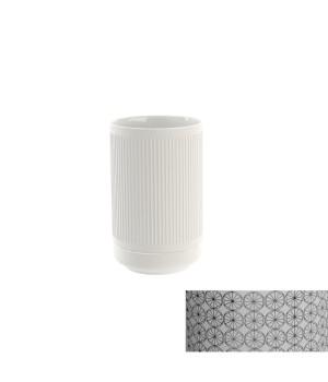 Стакан настольный, цвет белый декор CIRCLE Pomdor Equilibrium 777050002C