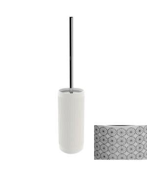 Держатель т/ершика напольный, цвет белый декор CIRCLE хром Pomdor Equilibrium 779051002C