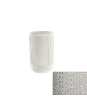 Стакан настольный, цвет белый декор NETTING Pomdor Equilibrium 777050002N