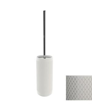 Держатель т/ершика напольный, цвет белый декор NETTING хром Pomdor Equilibrium 779051002N