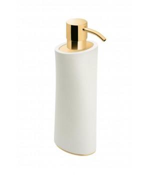 Дозатор ж/мыла настольный, цвет белый/золото Pomdor Belle 767831318
