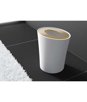 Контейнер для мусора, цвет белый/золото Pomdor Belle 769350318