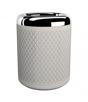 Контейнер для мусора, цвет белый декор NETTING хром Pomdor Equilibrium 779350002N
