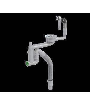 Универсальный комплект сифон для мойки Smartloc телескопический с гофрой