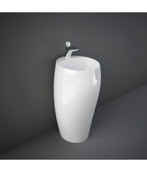Раковина напольная монолитная CLOFS5001AWHA RAK Cloud, белый глянец