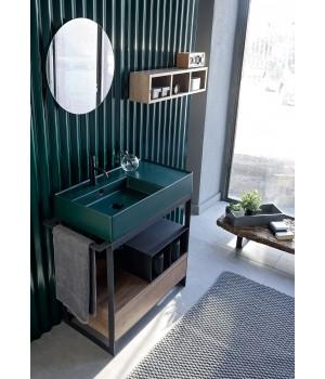 Комплект для ванной комнаты для умывальника 80 см Solid Scarabeo