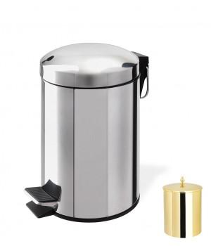 Контейнер для мусора 5 л с педалью StilHaus 478.5l.16 золото