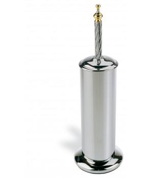 Напольный металлический ерш StilHaus Giunone G 039.02 хром/золото