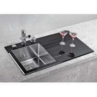 Мойка для кухни Alveus Crystalix 10 L/R черное стекло