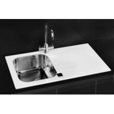 Мойка для кухни Alveus Glassix 10 белое стекло