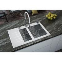 Мойка для кухни Alveus Crystalix 20 L/R белое стекло