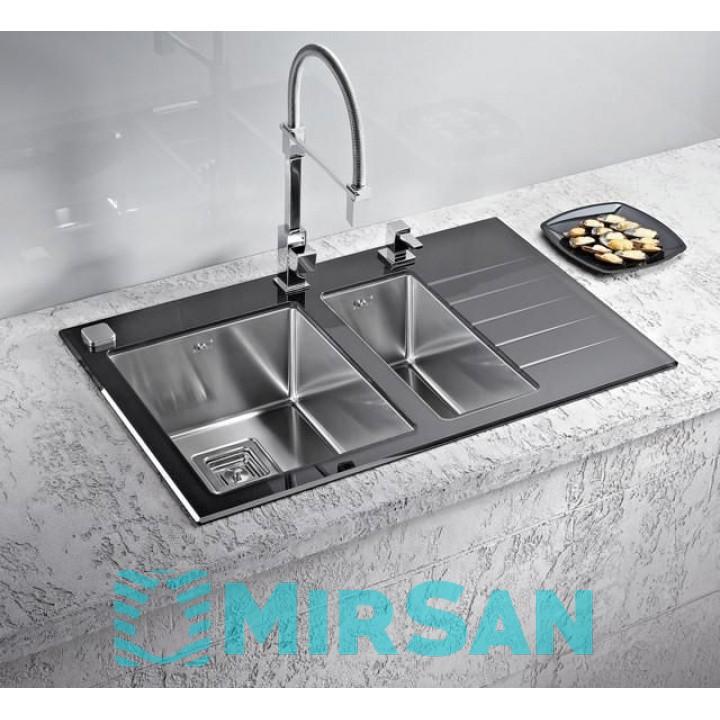 Мойка для кухни Alveus Crystalix 20 L/R черное стекло