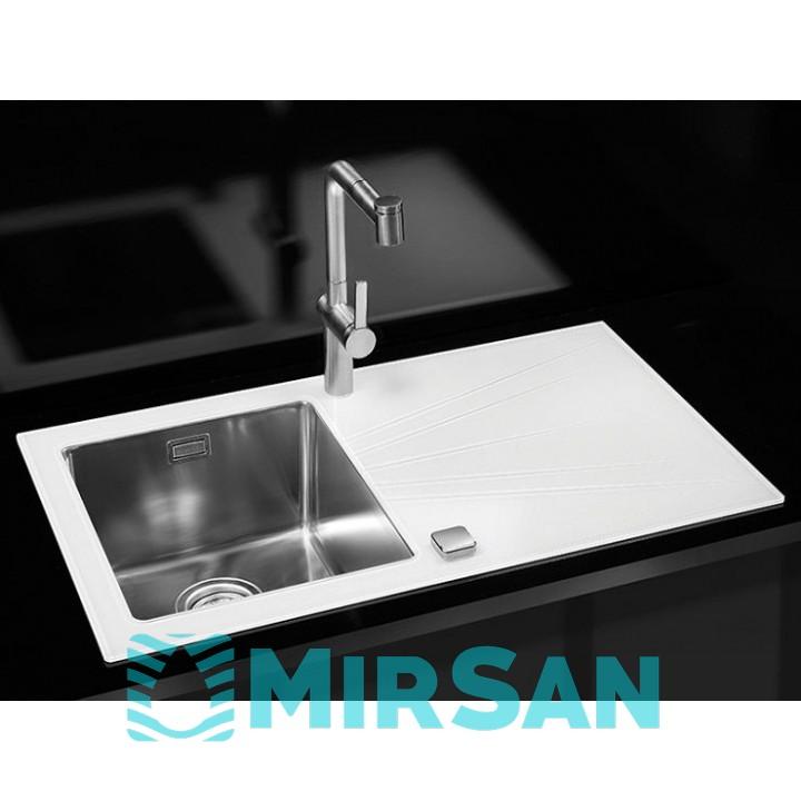 Мойка для кухни Alveus Karat 10 L/R белое стекло