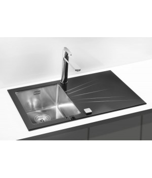 Мойка для кухни Alveus Karat 10 L/R черное стекло