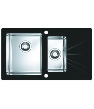 Мойка для кухни Alveus Karat 20 L черное стекло