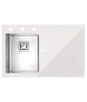 Мойка для кухни Alveus Crystalix 10 L/R белое стекло
