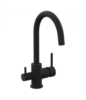 Смеситель для кухни на две воды Imprese Daicy 55009-UB черный