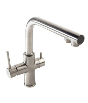 Смеситель для кухни на две воды Imprese Daicy 55009S-F сатин