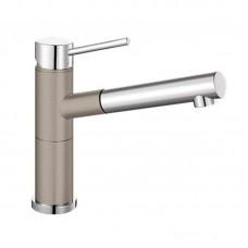 Кухонный каменный смеситель Blanco ALTA-S Compact Хром/Серый беж (517634)