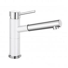 Кухонный каменный смеситель Blanco ALTA-S Compact Хром/Белый (515327)
