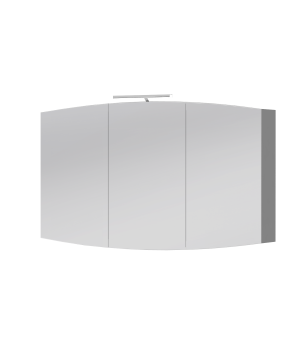 Дзеркальна шафа Rimini UMC-110 білий Botticelli