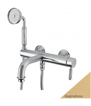 Смеситель для ванны в комплекте золото Bugnatese Athena ATHDO8502