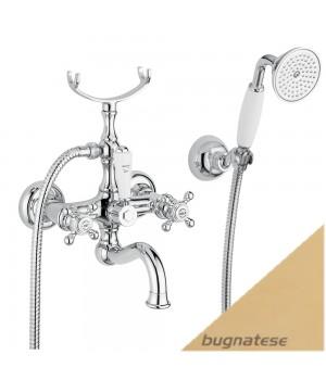 Смеситель для ванны в комплекте золото Bugnatese Arcadia ARCDO8302
