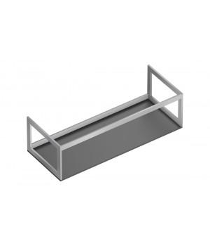 Алюминиевая конструкция для керамических столешниц Catalano Horizon 125x50, inox scotch-brite