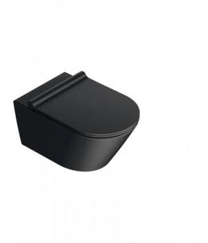 Унитаз Catalano Zero 1VS55NRNS подвесной безободковый 35x55 см черный матовый
