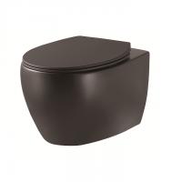 DEVIT 3020155B ACQUA NEW Унитаз подвесной без ободка, тонка крышка soft-close, quickfix, черный матовый