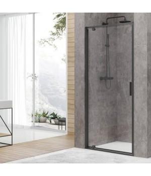 DEVIT FEN3340B ART Двери в нишу 90, черный матовый, без поддона, стекло прозрачное
