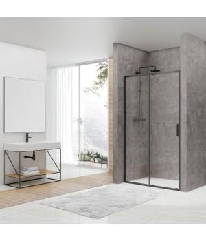 DEVIT FEN3640B ART Душевые двери 140, черный матовый, без поддона, стекло прозрачное