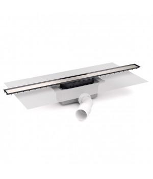 Душевой канал 65 с сифоном и накладкой, с горизонтальным выводом, хром, Devit 65010213