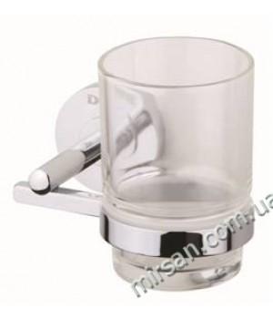 11050SC GLAMUR Стакан с держателем, хром + стекло