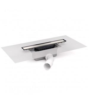 Душевой канал 35 с сифоном и накладкой, с горизонтальным выводом, хром, Devit 35010213