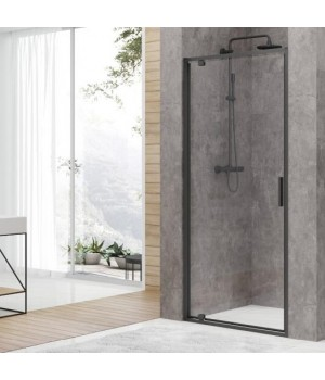 DEVIT FEN3440B ART Двери в нишу 100, черный матовый, без поддона, стекло прозрачное