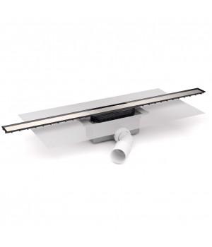 Душевой канал 75 с сифоном и накладкой, с горизонтальным выводом, хром, Devit 75010213