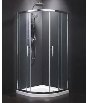 Душевая кабина Dusel А-511 800х800х1900, двери раздвижные, стекло матовое, без поддона
