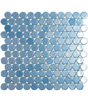 Мозаїка 30,1*31,3 Br Dark Blue Circle 6004C VIDREPUR