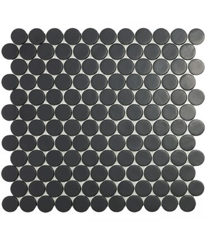 Мозаїка 30,1*31,3 Matt Black Circle 6108C VIDREPUR