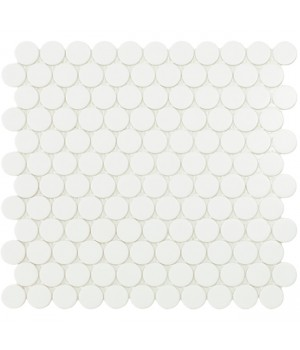 Мозаїка 30,1*31,3 Matt White Circle 6106C VIDREPUR