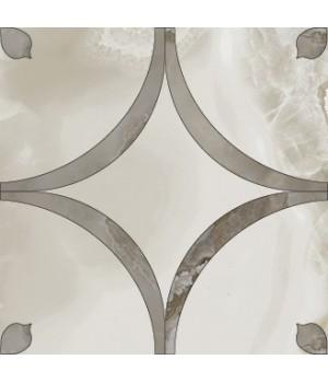 Декор 58,5*58,5 Odissey Roseton Valiant (Ivory+Saphire) Colorker