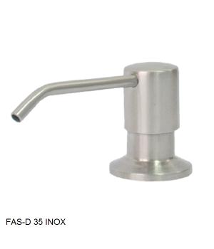 Кухонный дозатор моющего средства латунь,нержавеющая сталь,пластик FAS-D 35 Inox Fabiano