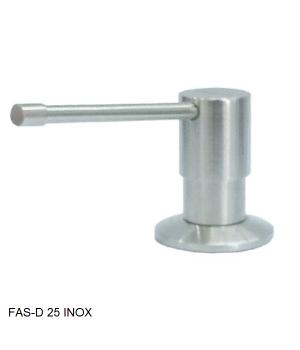 Кухонный дозатор моющего средства латунь,нержавеющая сталь,пластик FAS-D 25 Inox Fabiano