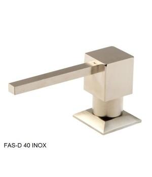 Кухонный дозатор моющего средства латунь,нержавеющая сталь,пластик FAS-D 40 Inox Fabiano